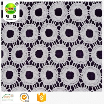 Chemical lace embroidery milk silk fabric