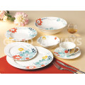 New bone china flower tableware set