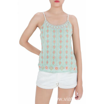 Embroidered Girls Summer Tank Tops