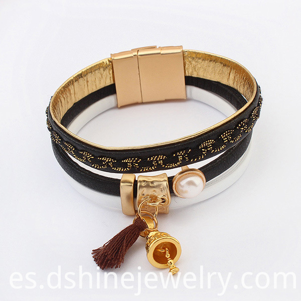 Magnet Clasp Leather Bracelets