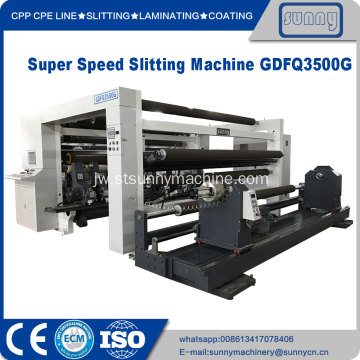 Mesin Slitter Rewinder super speed roll jumbo