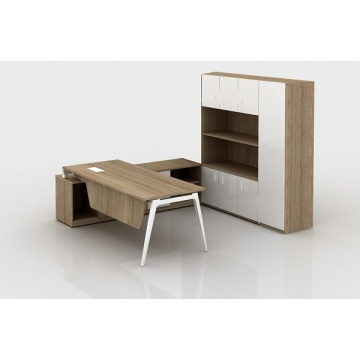L shaped wooden manager executive office furniture desks