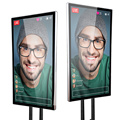 "43"" live streaming screen touch display"