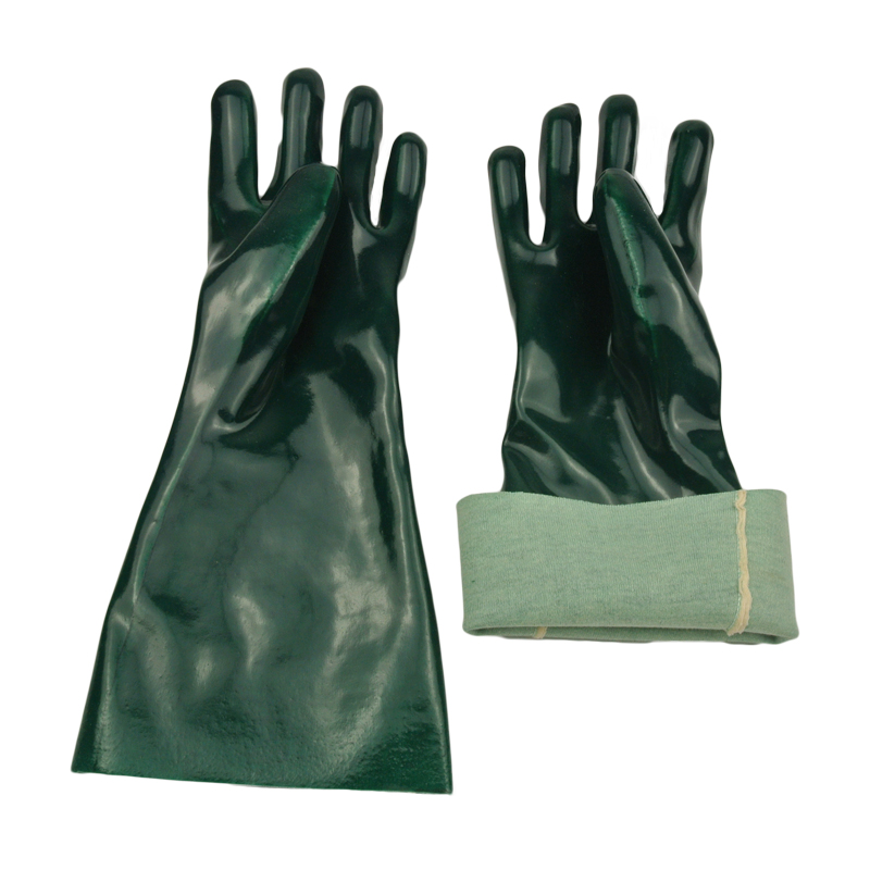green pvc dipped gloves