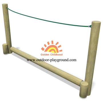 Children's Wooden Roll Rope Balance Park Playground