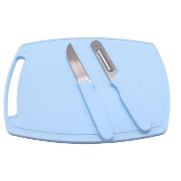 3pcs Knife Cutting Board Peeler Set