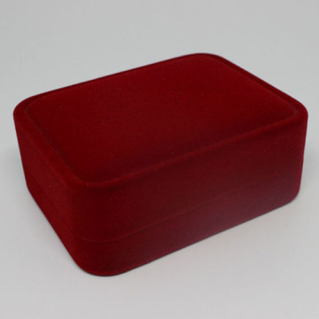 Velvet material jewelry boxes for necklace