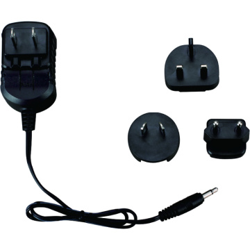 5W 9V 0.5A wallmount power adapter multi-plug