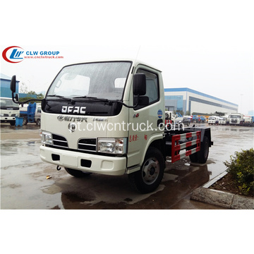 Cheap Dongfeng 5cbm roll off caminhão de lixo do recipiente