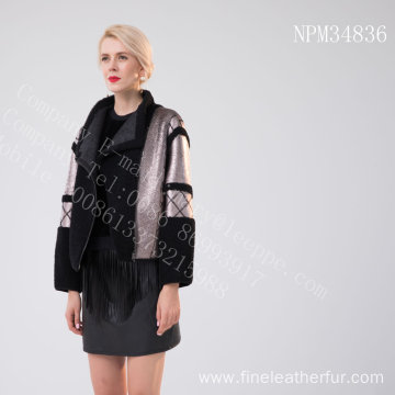 Women Short Spain Merino Shearling Jacket