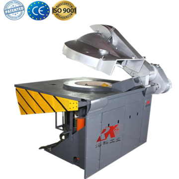 Small induction industrial metal smelting furnace
