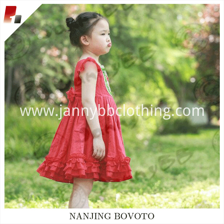 red embroidery dress06