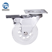 75 mm Transparent caster wheel Office Chair