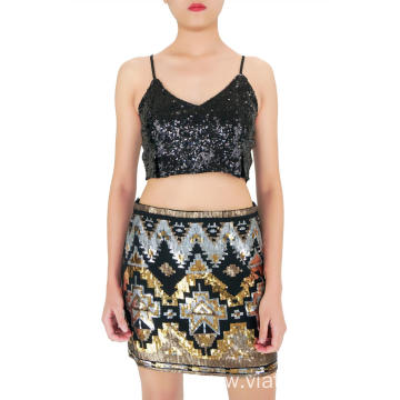 Weekend Sequin Mini Skirts