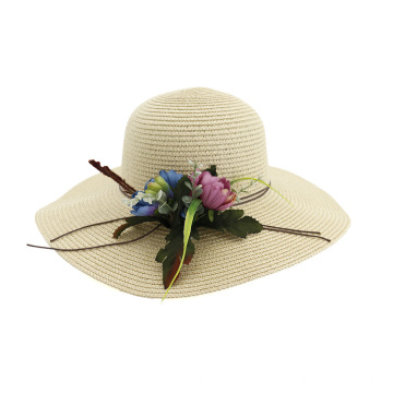 Adjustable greens style large brim design straw hat