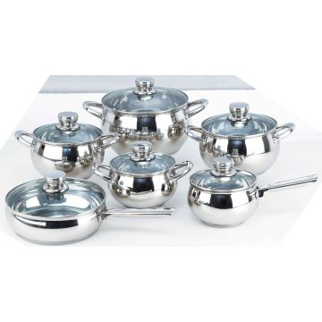 12PCS Stainless Steel Apple Shape Pot