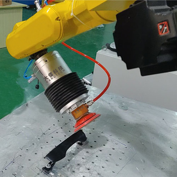 Door handle grinding sanding abrasive force control system