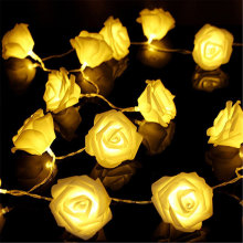 20LED Hangat Bunga Rose Bunga Bunga Fairy Lights