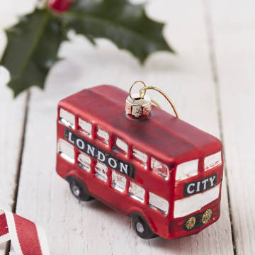 Customized British Glass Christmas Ornament
