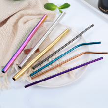 wholesale stainless steel eco drinking straws logo