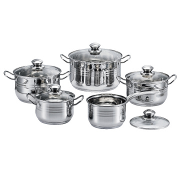 10 Pieces  Belly Shape Cookware Set