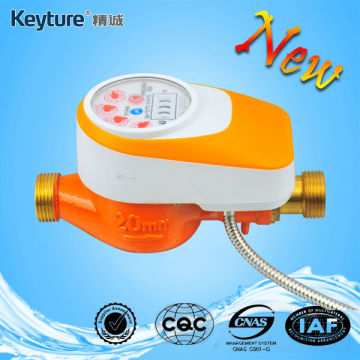 Wired AMR Water Meter With Valve Control Orange