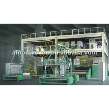 2400mm PP spunbond nonwoven fabric making machine with single beam