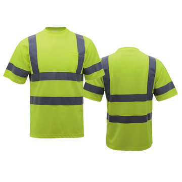 Polyester Safety T-shirt with collar