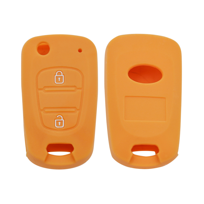 Embossed Silicone Key 2 Buttons Cover