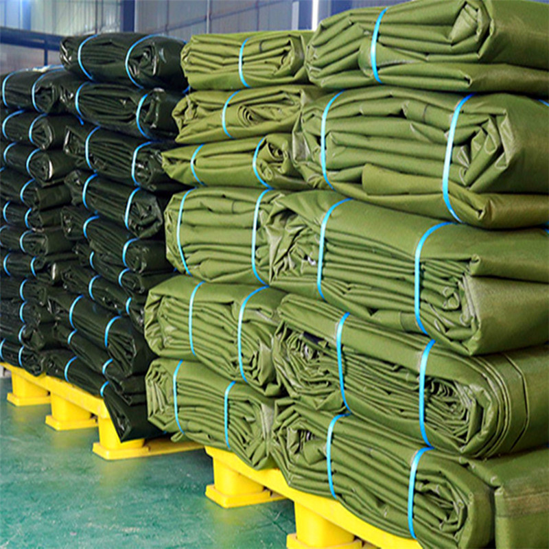 Stock of polyester canvas tarpaulin