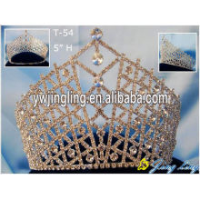Big Size Gold Rhinestone Pageant Crowns