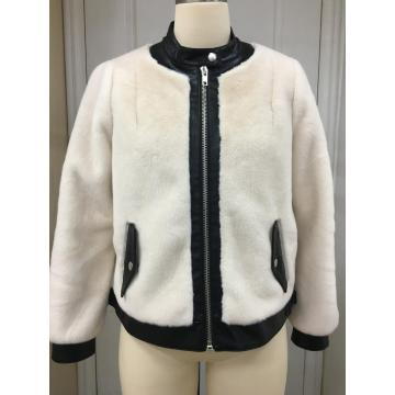 Women's Zip Up Plush Faux Fur Jacket