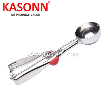 Stainless Steel Fruit Scooper with Non-slip Handles