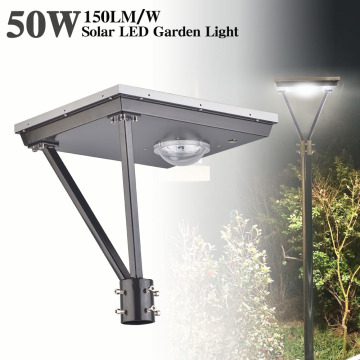50W led solar post top lights 7500lm