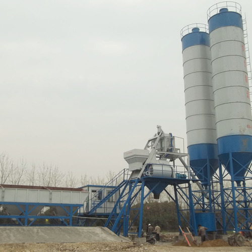 Portable stationy HZS75 ready mixed concrete batching plant