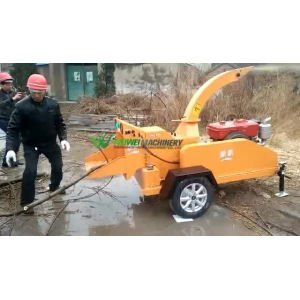 shredder tree branch crushing cutting machine
