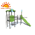 Slide Green Outdoor Playground Equipment For Children