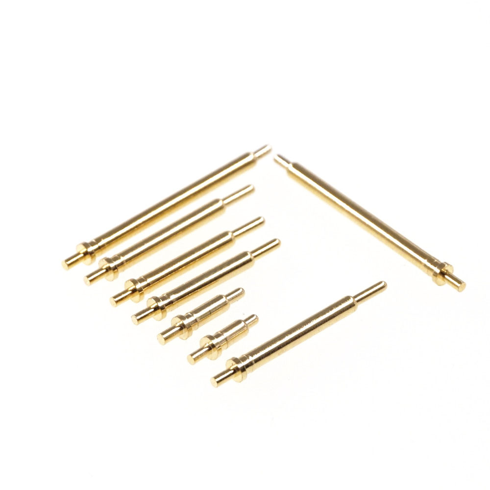 10pcs Pogo pin connector pogopin Battery spring Loaded Through Hole 1.2A 80gf needle PCB 3 4 5 6 7 8 9 10 11 12 15 16 18 20.5mm
