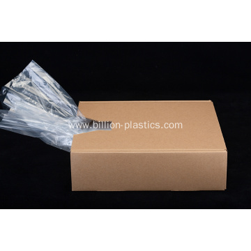 PE Plastic Flat Bag With Gusset