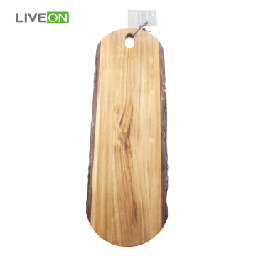 Acacia Wood with Bark Cutting Board