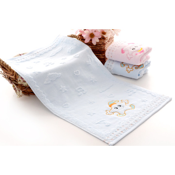 Colorful with Embroidery Pattern cotton kids towel