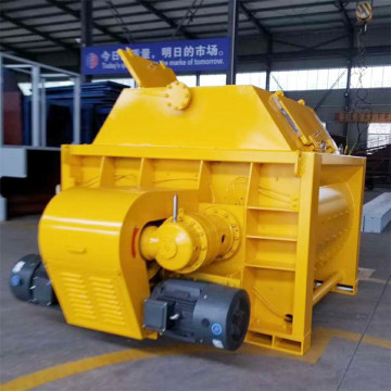 JS hopper lift twin shaft forced concrete mixer