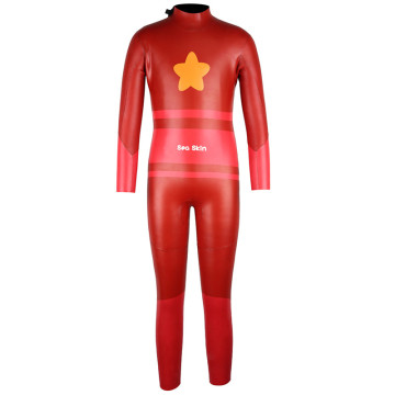 Seaskin Kids Long Sleeves Red Dive Wetsuits