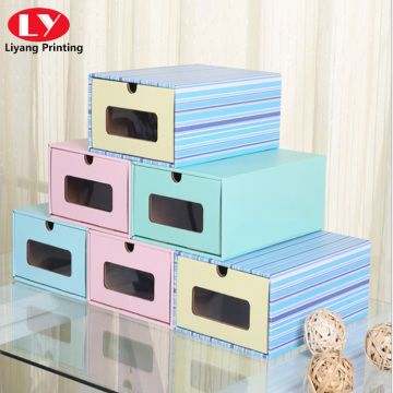 Color stripe multifunctional storage drawer box