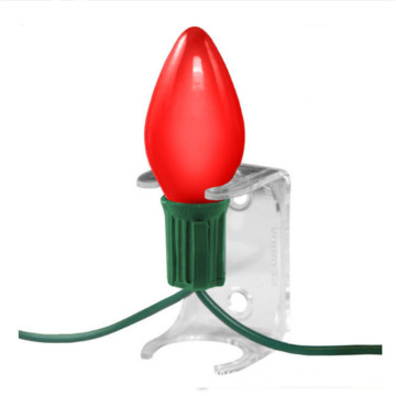 Christmas Light Socket Clip Transparent Plastic