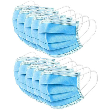 50pcs Disposable Mask 3ply Protective Face Mask