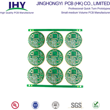 Immersion Gold 4 Layer ENIG Multilayer Printed Circuit Board Copper Plugging Vias PCB