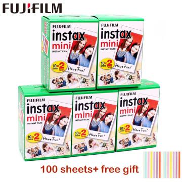10-100 sheets Fujifilm instax mini 9 film white Edge 3 Inch wide film for Instant Camera mini 8 7s 25 50s 90 Photo paper