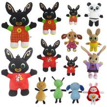 Bing Rabbit Stuffed Doll Plush Toys Stuffed Panda Hoppity Animation Action Toys For Children Soft Animal Panda Dolls Kawaii Toy