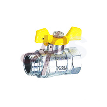 Plated nickel FM thread brass gas ball valves